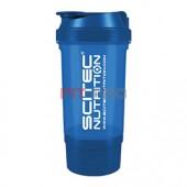 Shaker Traveller Scitec Nutrition modrý priesvitný 500ml - vysokokvalitný šejker Scitec Traveller 500ml s mriežkou a oddeleným priečinkom na kapsuly, tablety či prášok, v ktorom sa perfektne rozmieša každý proteínový či sacharidový nápoj.