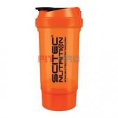 Shaker Traveller Scitec Nutrition oranžový priesvitný 500ml - vysokokvalitný šejker Scitec Traveller 500ml s mriežkou a oddeleným priečinkom na kapsuly, tablety či prášok, v ktorom sa perfektne rozmieša každý proteínový či sacharidový nápoj.