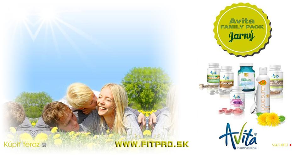 Avita FAMILY PACK jarný - obsahuje atarktívnu kombináciu šiestich Avita produktov, vhodných pre celú rodinu.