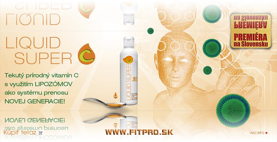 Výživový doplnok - tekutý prírodný vitamín C s využitím lipozómov ako systému prenosu novej generácie.