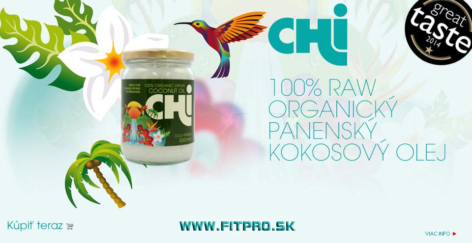 CHi 100% RAW Organický panenský kokosový olej 500ml. Kliknite a kúpte