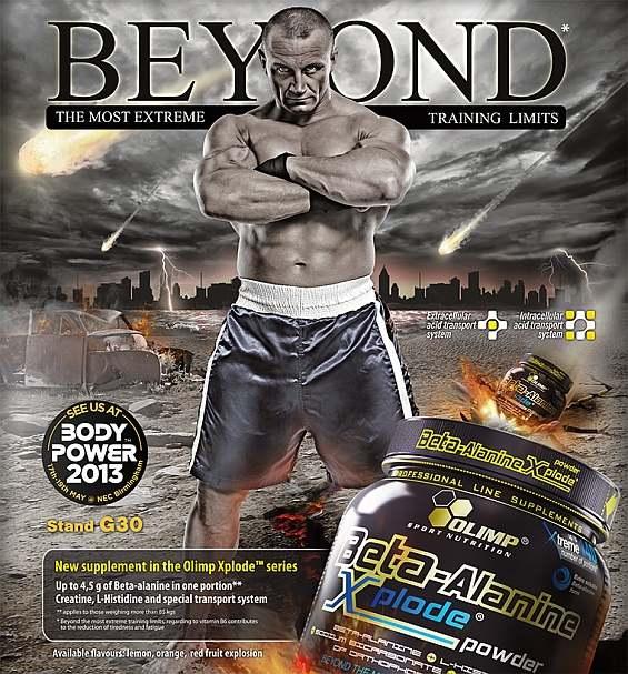 Olimp Beta-Alanine Xplode Powder 420g - karnozínová podpora pre silový a výbušný tréning nielen v posilňovni, ale aj v boxerni.
