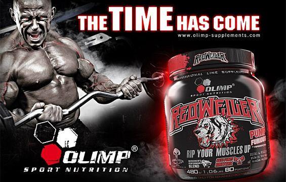Olimp - RedWeiler 480 g - predtréningový stimulačný doplnok výživy pre svalovú NO pumpu