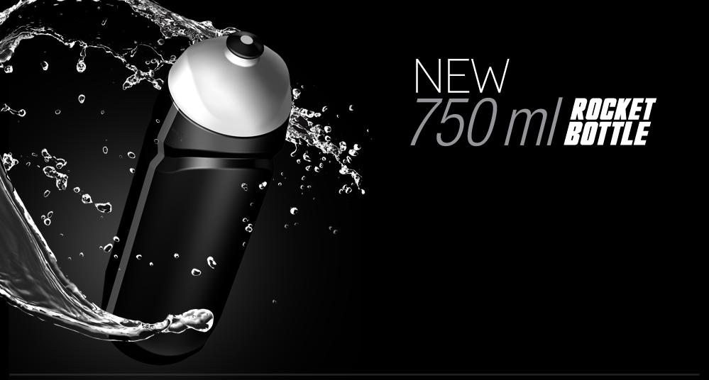 Nová športová fľaša 750 ml so závitom, gumeným športovým úzáverom. 100% vodotesná. Priesvitný pásik pre vizuálnu kontrolu množstva nápoja. Vyrobená z chuťovo a pachovo neutrálneho plastu.