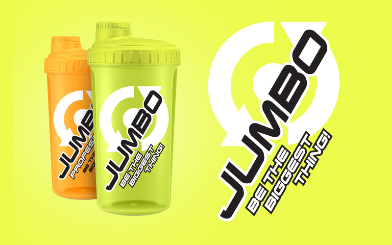 Shaker Scitec Nutrition Jumbo oranžový / zelený 700ml