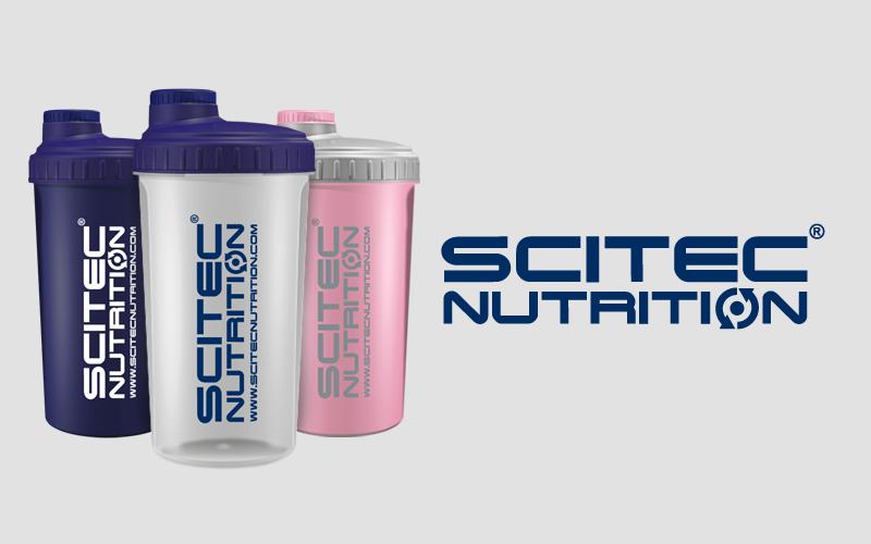 Shaker Scitec Nutrition modrý / priesvitný / ružový 700ml