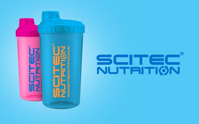 Shaker Scitec Nutrition Neon ružový / modrý 700ml