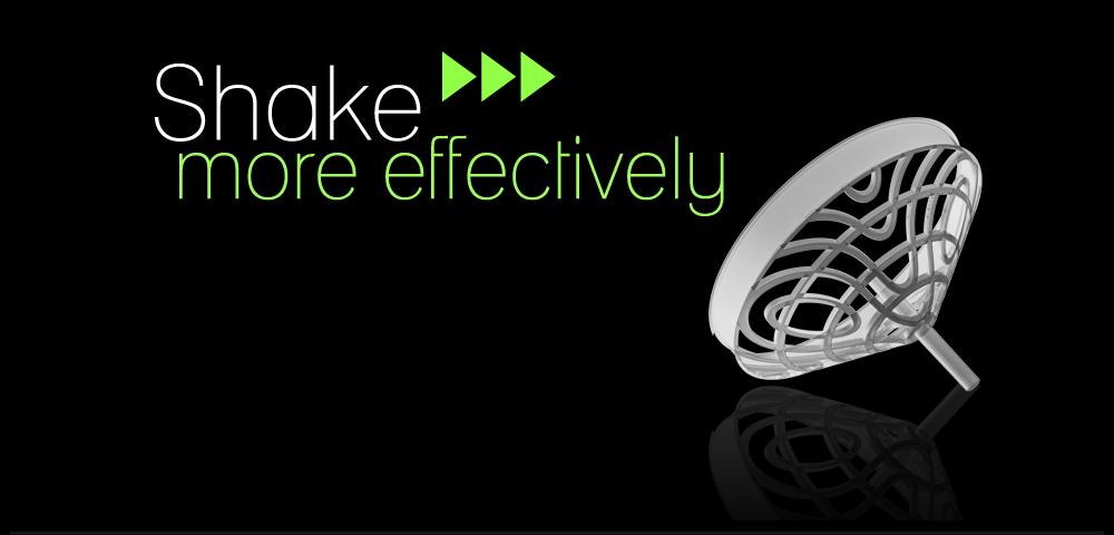 MIEŠAJTE EFEKTÍVNEJŠIE! Vyvinuli sme sitko kužeľovitého tvaru, ktoré viacnásobne zvyšuje účinnosť miešania. Vyššia účinnosť je dosiahnutá vďaka väčšiemu povrchu sitka a teda aj väčšiemu prietoku kvapaliny cez sitko.