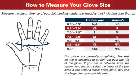 HARBINGER - Ako si vybrať správnu veľkosť rukavíc?