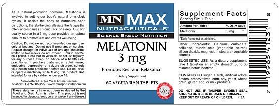 Max Muscle Melatonin 3mg 90 tabliet - pre hlboký regeneračný spánok