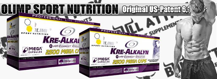 Olimp - Kre-Alkalyn 2500 Mega Caps 120kps pH korektný kreatín - najlepší patentovaný americký kreatín.